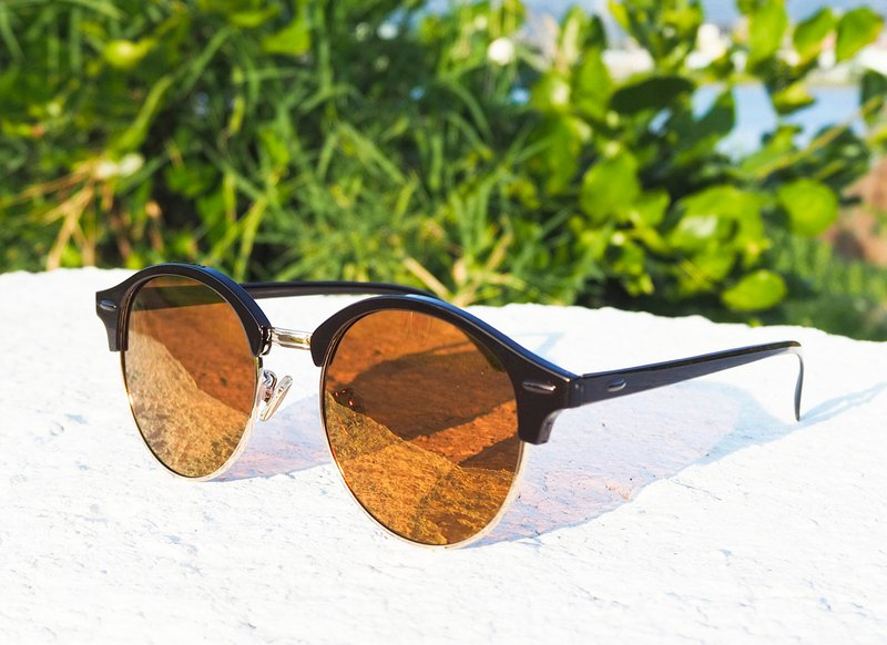 Polarized Sunglasses│Vintage Oval Frame│Brown Lens│2is PerryC