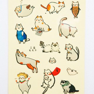 A variety of Mishima cats transparent stickers