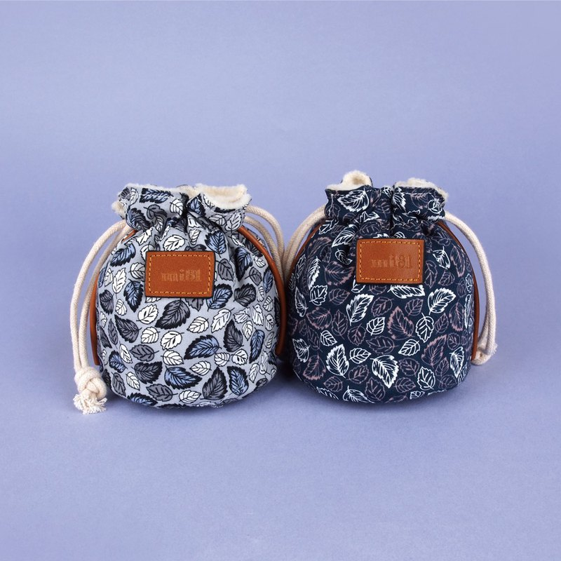 mi81 Cotton Printed camera Pouch (S) Leaf series