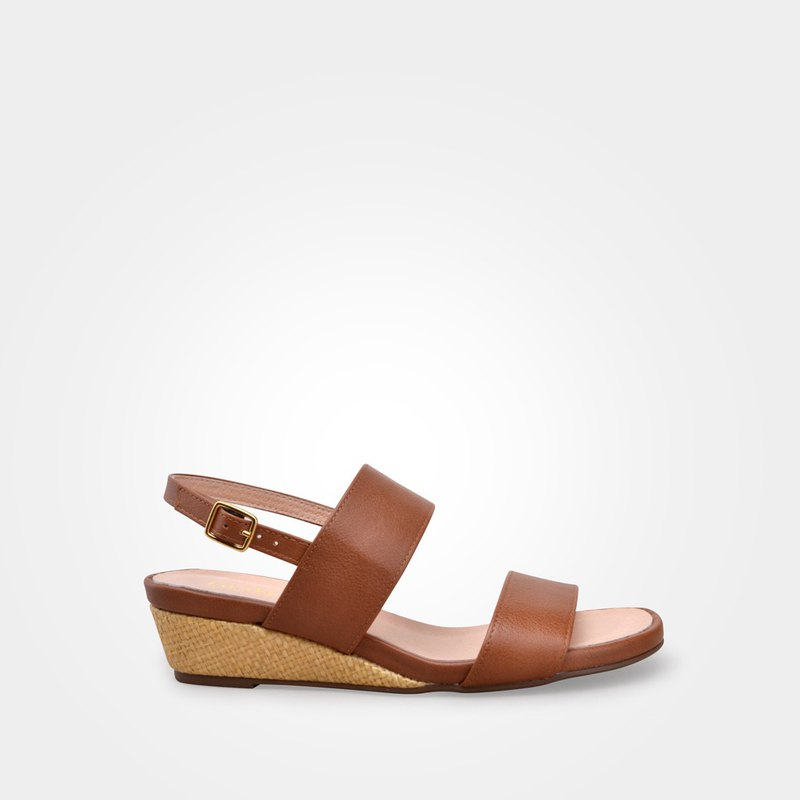 6202 coffee wedge sandals