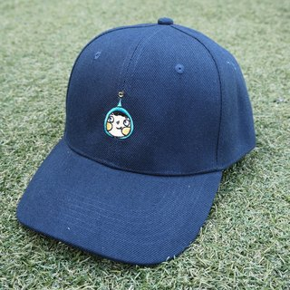 Navy LamHo Embroidered Cap