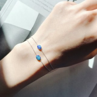 【PurpleMay Jewellery】18k White Gold Black Opal Bracelet B010