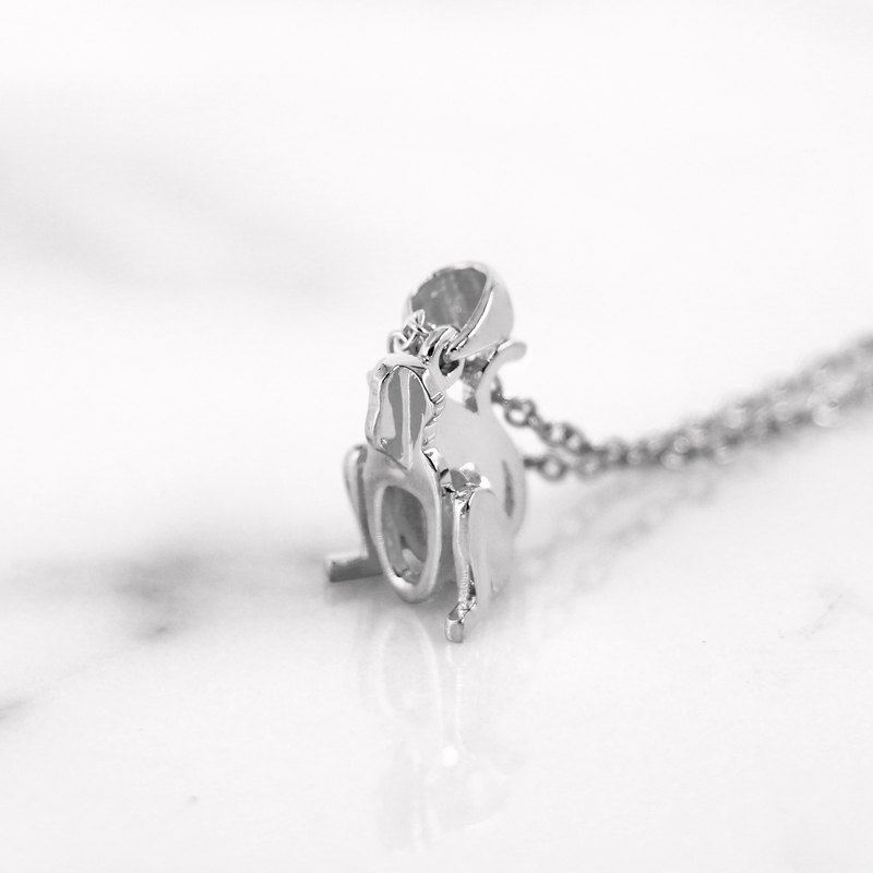 Da Monkey Pendant and Necklace (925 Sterling Silver) Da Things - by Da Things