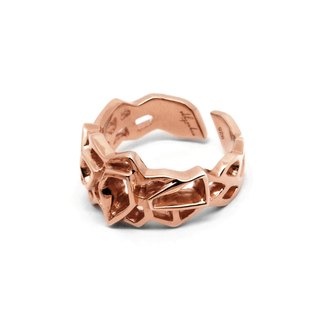 WIREFRAME Ring (S) / Rose Gold  (Small)