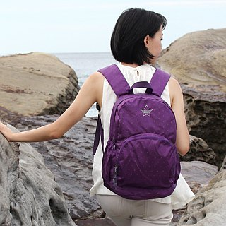 Light-Fold Stars Water Stop Backpack(14'' Laptop OK)-Purple_100328-40