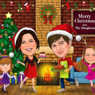 Celebrate the Christmas electronic portraits Your gifts are especially warm