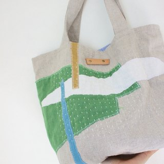 Tote bag Collage Roughness, linen