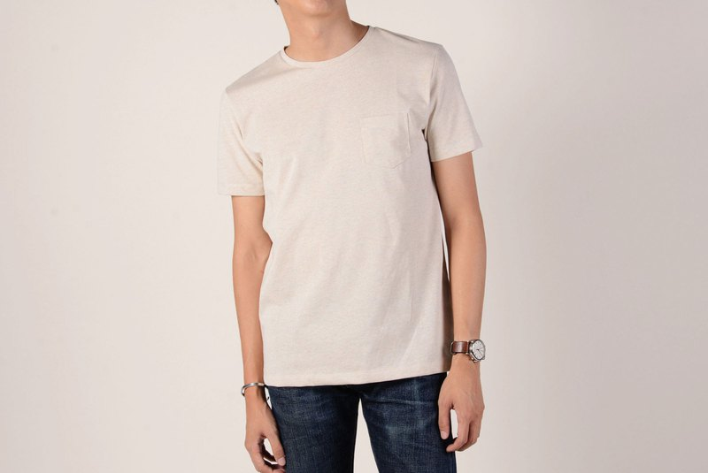 Pocket Tee - Top-dyed Beige