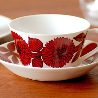 Gustavsberg Red Aster Cup Set