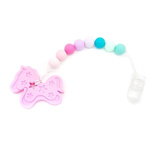 Baby Teether Clip Set - Pink Unicorn