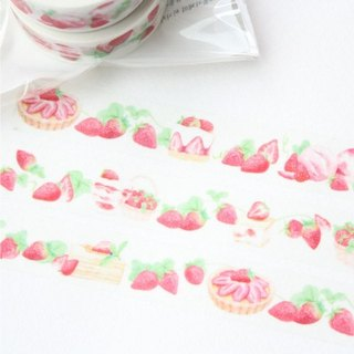 Paper tape - strawberry dessert