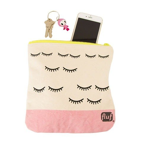 Canada fluf organic cotton zipper bag / cosmetic bag / stationery bag - wink