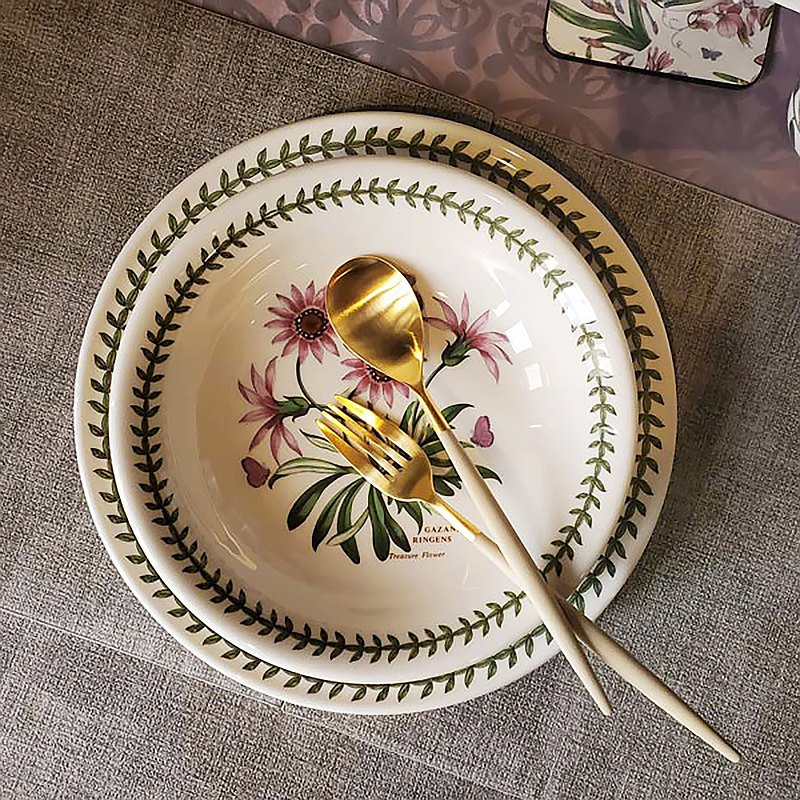餐墊組 英國經典植物園系列 22公分 義式麵碗6入組