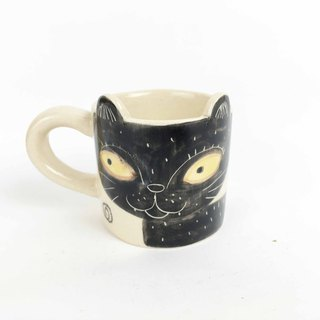 Nice Little Clay Espresso Cup Black Cat 0133-12
