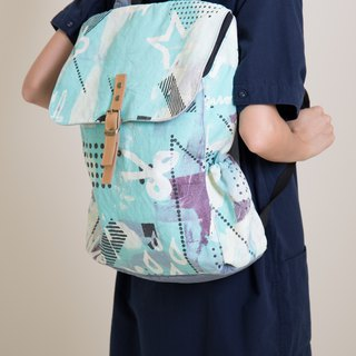 Zip back pack mint green
