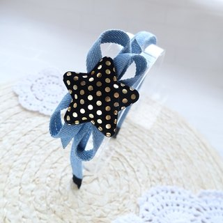 Children's hair hoop denim headband head ornaments