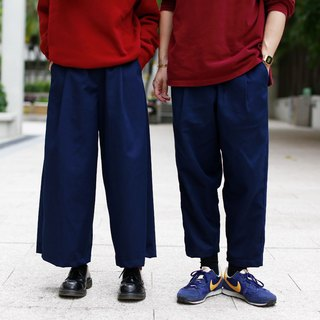 Navy unisex casual pants