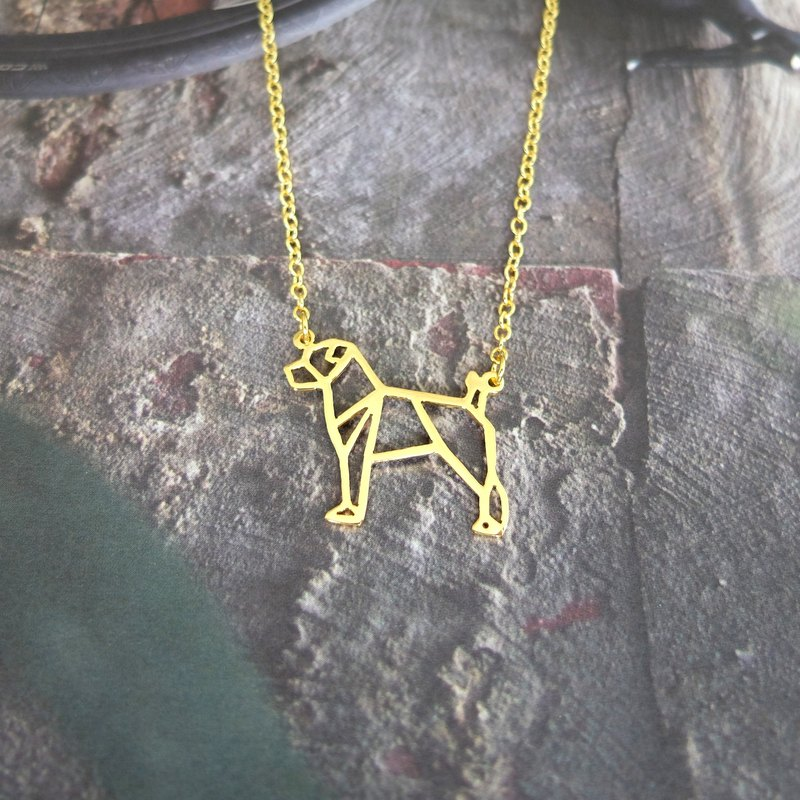 Jack Russel Terrier, Dog Necklace, Origami Necklace, Dog lover, Dog gifts