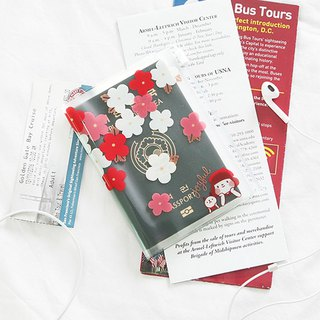啰Jenny transparent passport holder 03 cherry blossom
