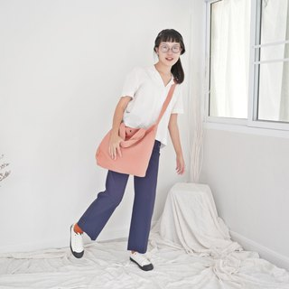 Casual 2 Ways Linen Tote Bag (Milk Tea)