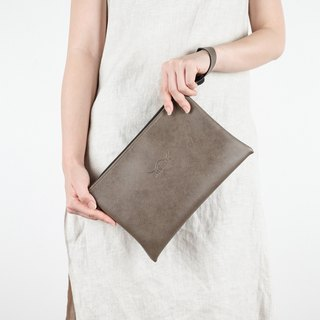 Taupe Pouch Bag