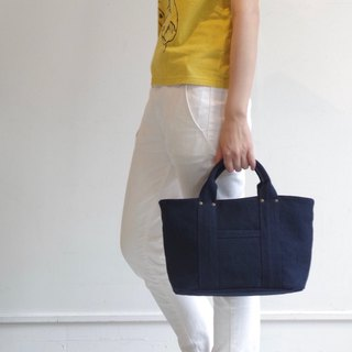 Kurashiki canvas mini tote - Midnight blue