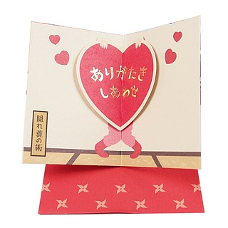 Ninja invisible ceiling turns out to be big love [Hallmark stereo card big Austrian ninja / gift card]