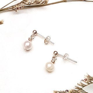 <Pet Love Series-Collection> 925 Freshwater Pearl Sterling Silver Earrings Customized