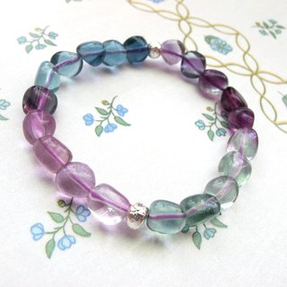[Play Color Stones] Fluorite x 925 Silver - Hand-made Natural Stone Series