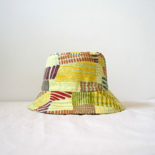 Japanese fabric artwork color hand fisherman hat