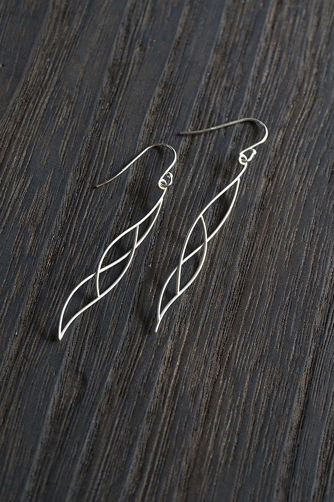 Camouflage 925 silver earrings