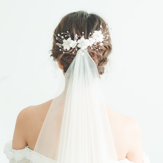 Virginia Embroidery Flower Tiara/新娘頭飾/訂製飾物/手製飾物
