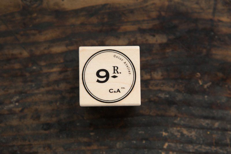 Vintage CA Logo C Maple Wood Stamp - OURS Color Atelier Series