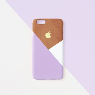 iPhone case - Pastel violet layered wood pattern for iPhones - non-glossy L16
