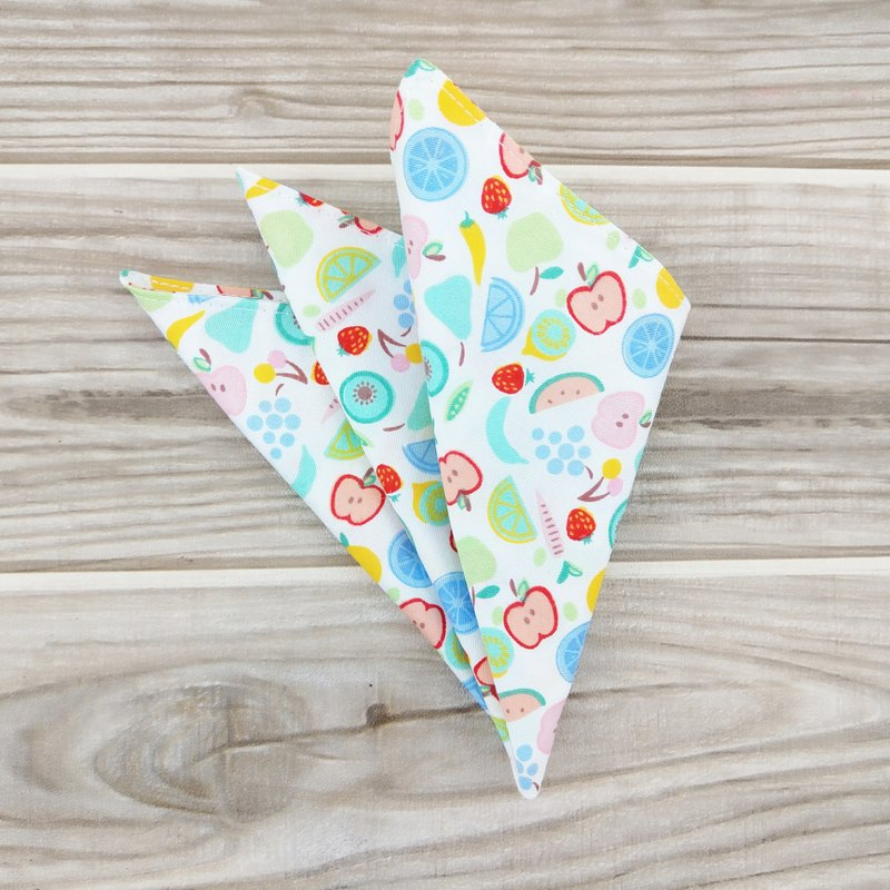 Comprehensive fruit. Double-sided double-sided handkerchief handkerchief hand towel pocket towel