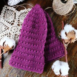 Handmade - sweet purple grape - fisherman hat - wool cap wool