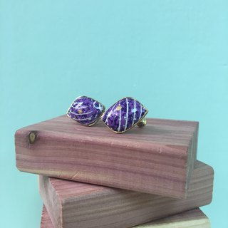 Accessory / Purple Shell Clip-on Earrings