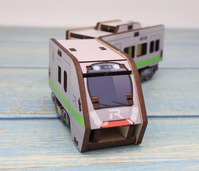 EMU900 car front three-dimensional shape combination woodwork-Taiwan Railway authorized