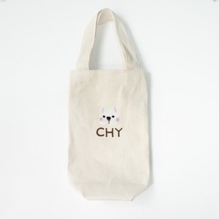 [Q-cute] Kettle bag series - dog head plus word / customized