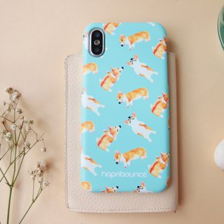 Bau Bau Corgi Phone Case in Light Blue