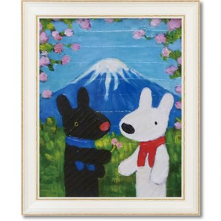 """Lisa and Caspian"" large box copy painting - Mount Fuji"