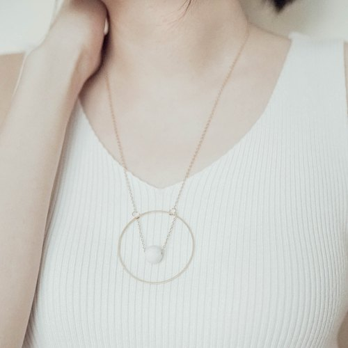 Marble Concrete Brass Necklaces