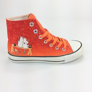 Moomin Authorized License - Canvas Shoes (Orange Tangerine / Women's Shoes) -AE08