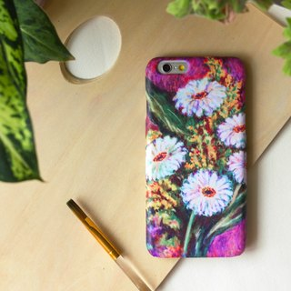 Passionate White flowers painted with oil paintis.  Matte Case (iPhone, HTC, Samsung, Sony)
