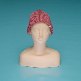 over the basic ♦ plain - deep pink OTB007 hand-woven wool cap