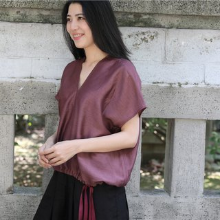 [Rolling cloth for Yimu Mu breeze to] European silk fabric summer short jacket