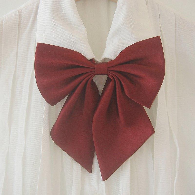 wine big ribbon tie wine big ribbon neck tie for woman wedding