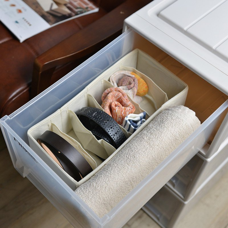 Japanese Pegasus drawer with 6 small compartment classification storage box - face width 15cm-2 into