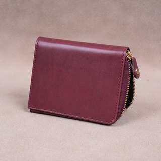 Zipper Wallet / Coin Wallet / Italy calf Leather(Marsala)