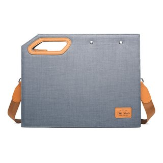 Square Clutch Briefcase Lightweight Personality Design Fashionista - Light Gray